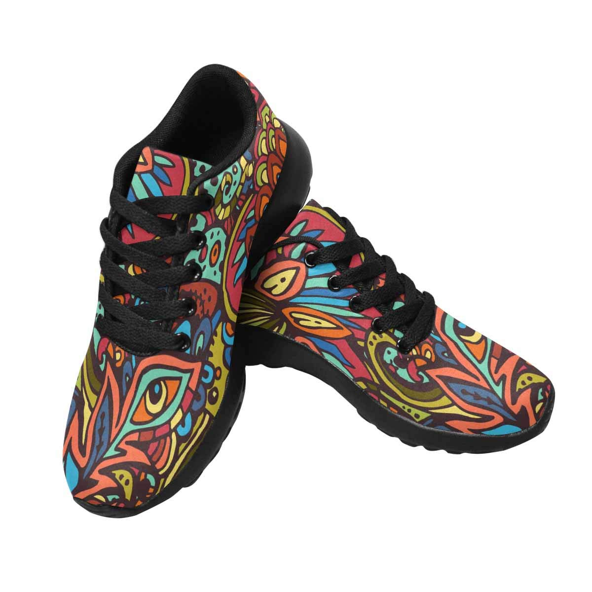InterestPrint Women's Sports Road Running Shoes Tribal African Style US9