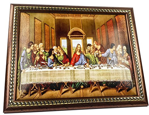 The Last Supper Jesus Unique Plaque Padded Wall Picture Holy Land 11.4