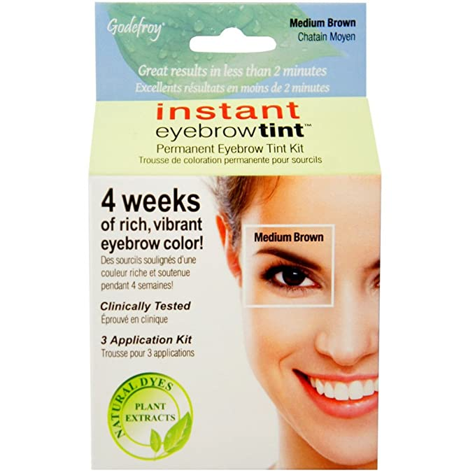 Godefroy Instant Eyebrow Tint Medium Brown 3 Pack Amazon Beauty