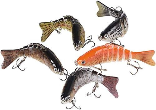 BUONDAC 5 Señuelos de Pesca 10cm Cebos de Pescar ...