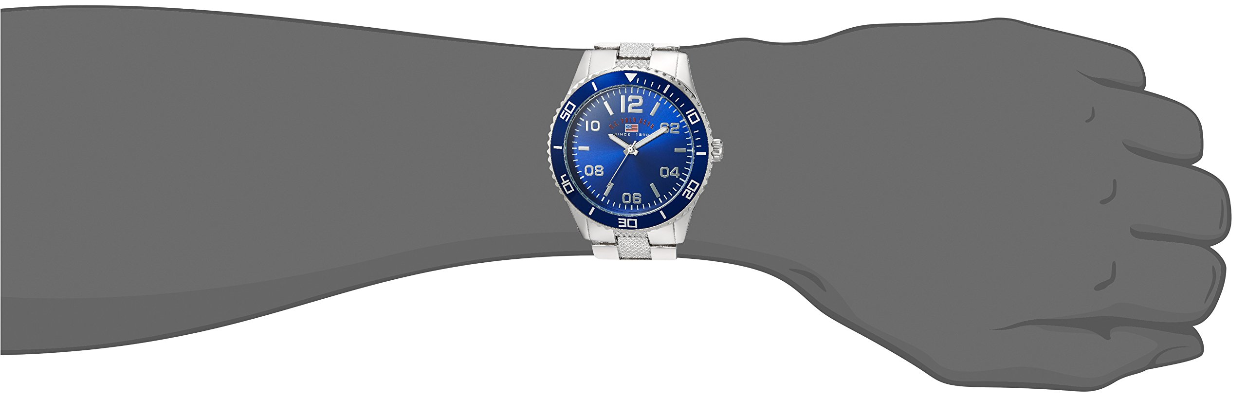 U.S. Polo Assn. Men's Quartz Metal and Alloy Casual Watch, Color:Silver-Toned (Model: US8609)