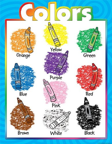 amazon com teacher created resources colors chart multi color
