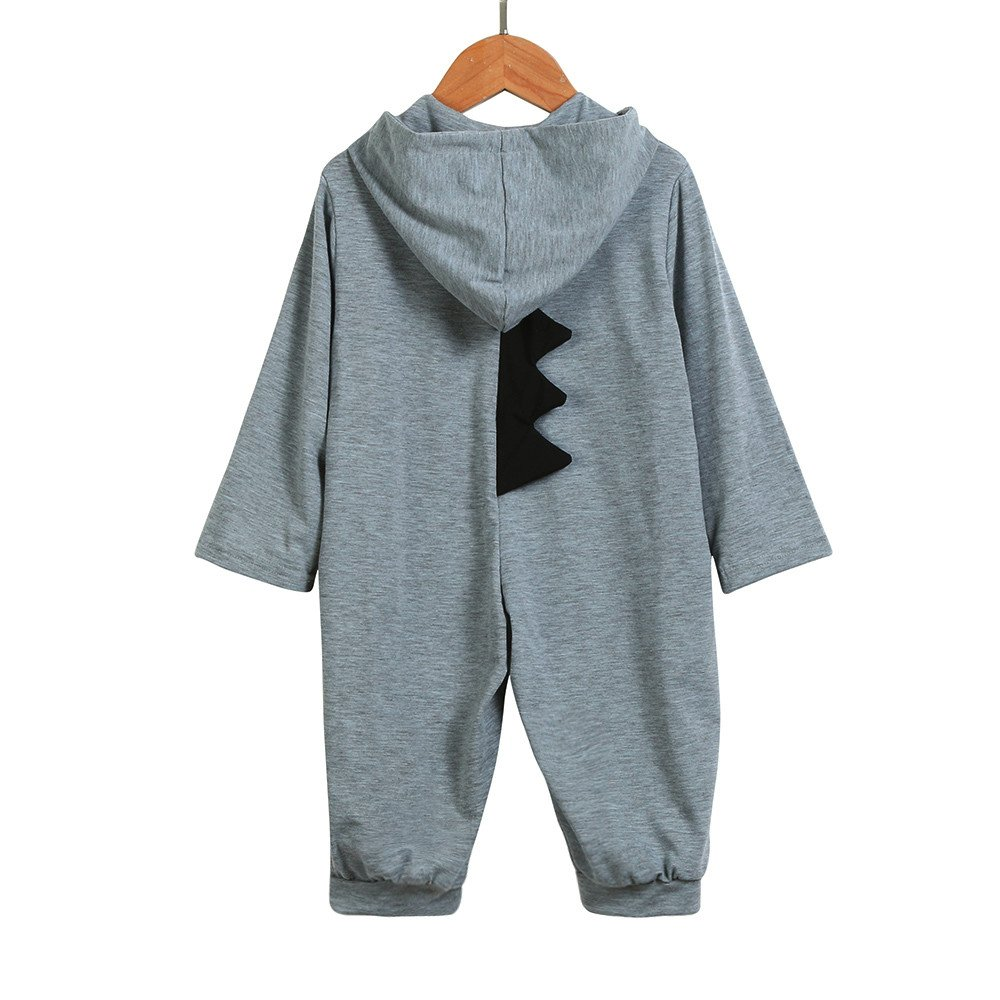Newborn Infant Baby Boy Girl Long Sleeve Dinosaur Modeling Hooded Romper Jumpsuit Outfits Clothes Shenye Baby Romper