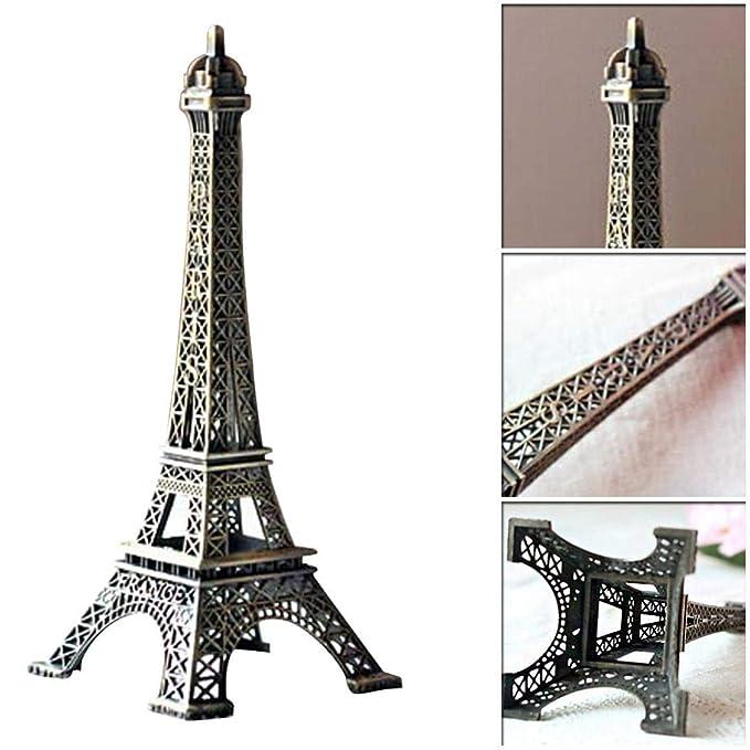 Htrdjhrjy 3D Metal París Torre Eiffel Modelo, Micro Paisaje ...