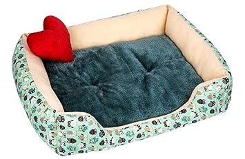ZhuikunA Casa para Gatos Perros Cama Mascota Habitacion Nido De Mascota Suave Y Acogedora Perrito Gatito Cálida Invierno Verde M: Amazon.es: Productos para ...