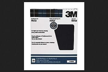 "5 Count 9/"" x 11/"" Madium Crystal Bay Emery Cloth Sandpaper 3M Company"