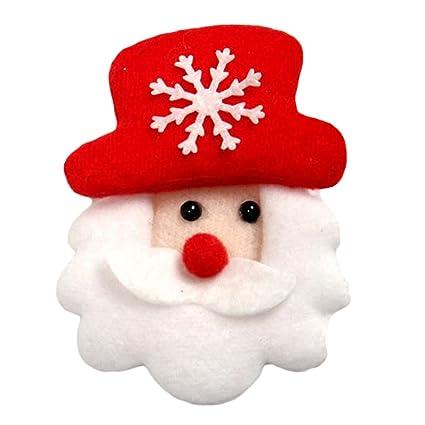 Nuohuilekeji De Noël à Led Lumineuse Dessin Animé Père Noël Bonhomme De Neige Cerf Ours Broche Noël Jouet Couleur 1 Santa Claus