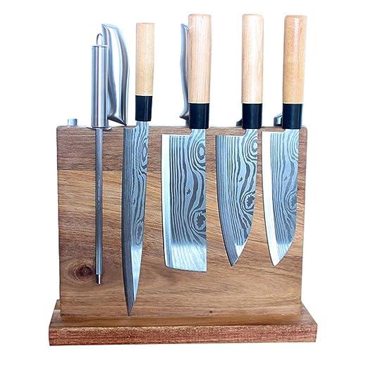 Portacuchillas KCD grande, bloque de cuchillos de cocina ...