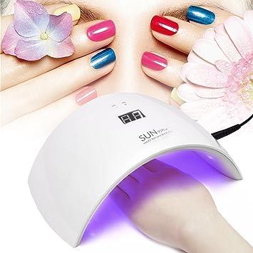 3eebe11481520 Lámpara de Uñas UV LED 36W 18 Bombillas con Temporizador de 99sg para  Secado de Esmaltes y Gel -Duomishu  Amazon.es  Belleza
