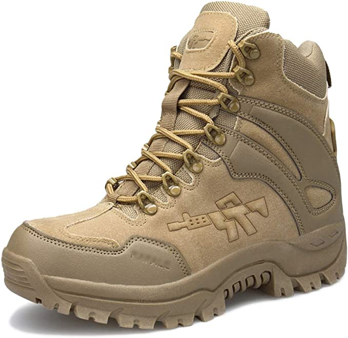 Herren Boots Tactical Komfort Wüste Leder Militärische