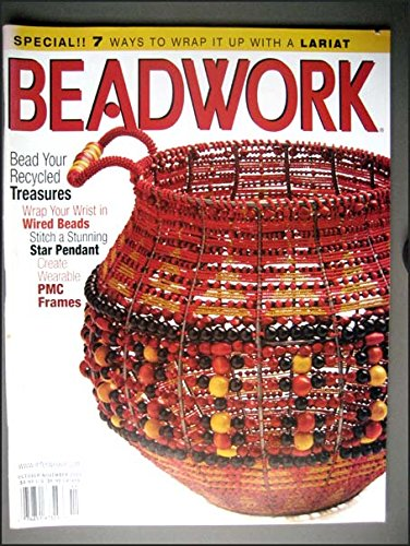 Beadwork October/November 2003 Lariats, Wired Bead Bracelets, Beaded Wire Basket, Victorian Lantern Jewelry