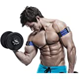Occlusion Training Bands by BFR Bands, PRO, 1 Set of Bands for Both Arms and Legs, Blood Flow Restriction Bands Help You Gain Muscle without Lifting Heavy Weights, Strong Elastic Strap + Quick-Release