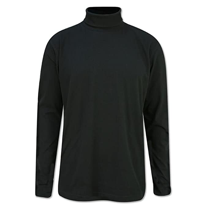 b5846a0333b432 MENS GOLF, SKI POLO ROLL NECK TOP 300gsm HEAVY COTTON S,M,L,XL,XXL,3XL,4XL:  Amazon.co.uk: Clothing