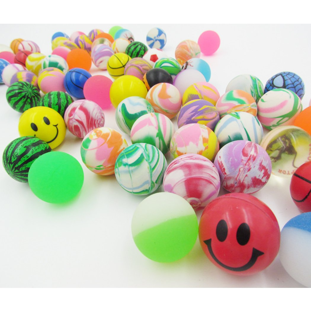 20 Pieces Bouncy ball Toy Mixed Candy Machine Coin Elastic Ball Assorted Super Bouncy Balls si ying
