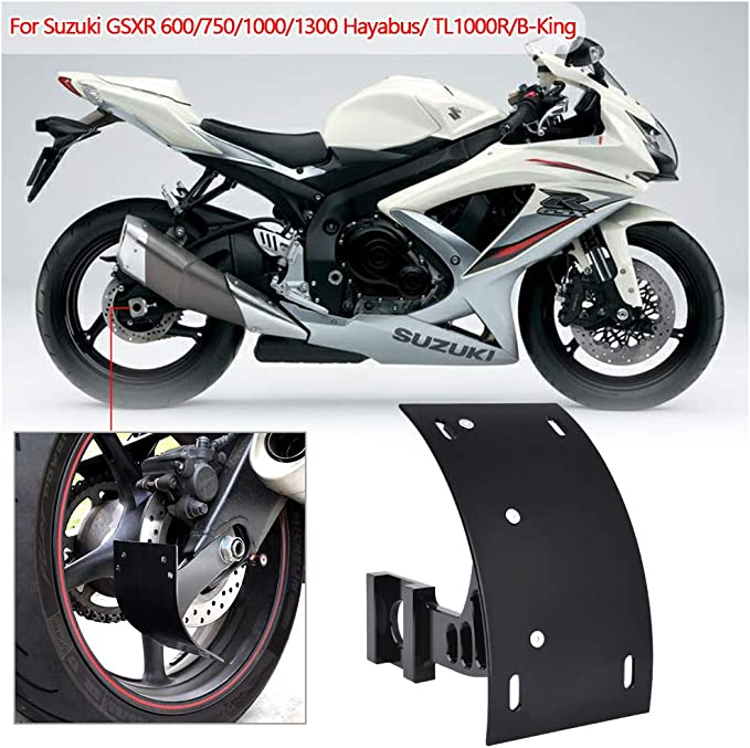 Tag Bracket Swingarm Mount License Plate for Suzuki GSXR 600//750 2001-10 Black A