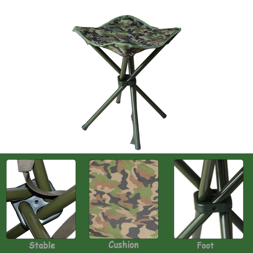AGOOL Portable Folding Stool Outdoor Square Slack Chair Lightweight Heavy Duty for Camping Mountaineering Hiking Travel House-Using Recreation