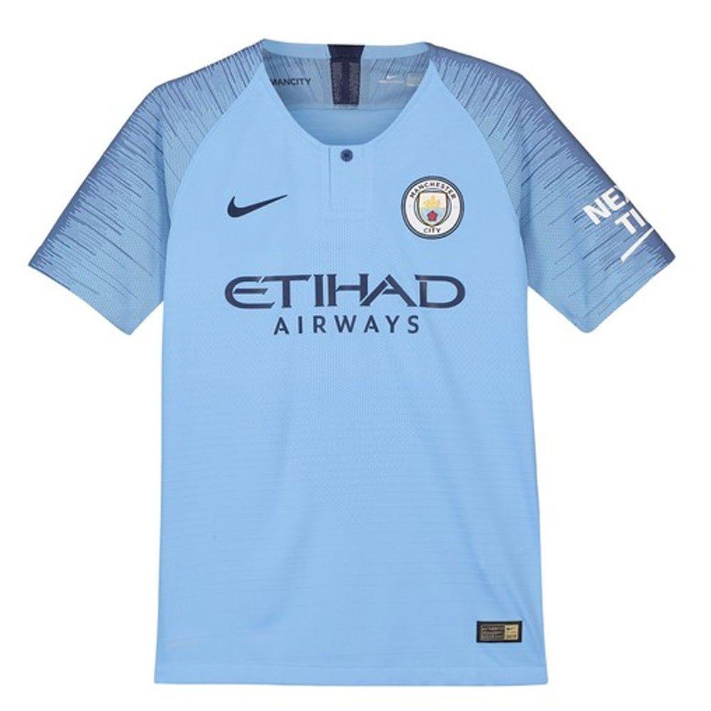 58bc47652 Amazon.com   2018-2019 Man City Home Nike Football Soccer T-Shirt Jersey  (Leroy Sane 19) - Kids   Sports   Outdoors