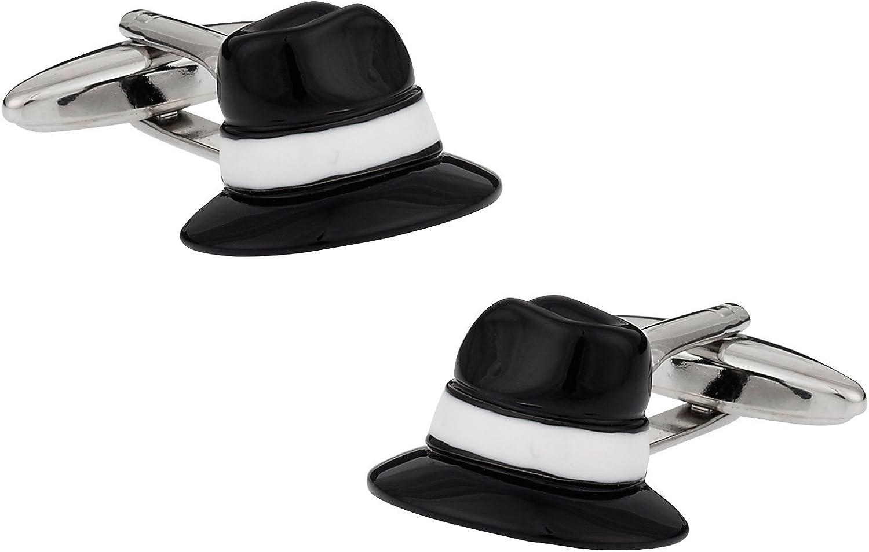 Cuff-Daddy Fedora Hat Cufflinks with Presentation Box