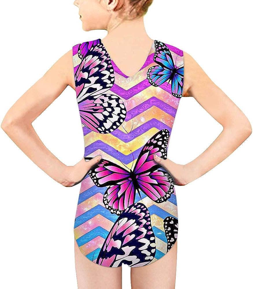 HUGS IDEA Kids Swimsuits Girls Swimwear Stylish Butterfly Printed Quick Dry Bathing Suit UPF 50