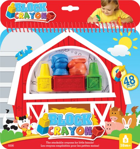 Block Crayons with Farm Colouring Book for sale  Delivered anywhere in Canada
