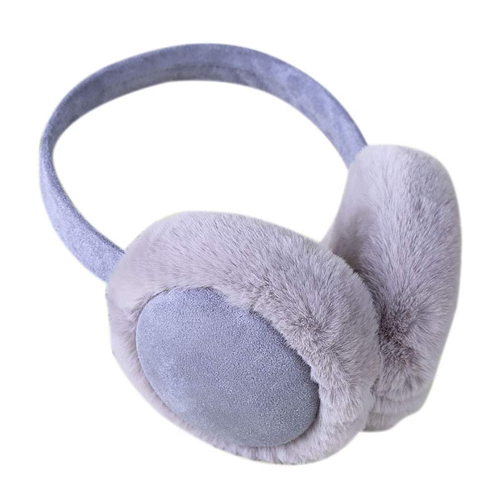 NICOLA Men Women Winter Warm Earmuffs Foldable Ear Warmers for Outdoor