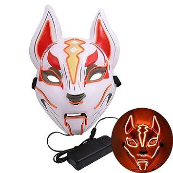 WYCY Led Light UP Máscara de Zorro Línea de neón Accesorios de ...