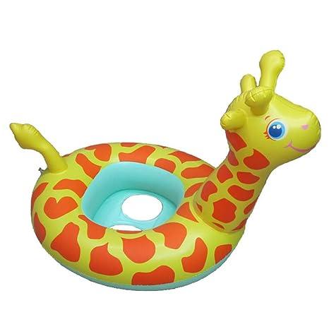 Uleade Inflable bebé Infante Niño infantil Piscina asiento del flotador del barco Anillo Raft Presidente piscina
