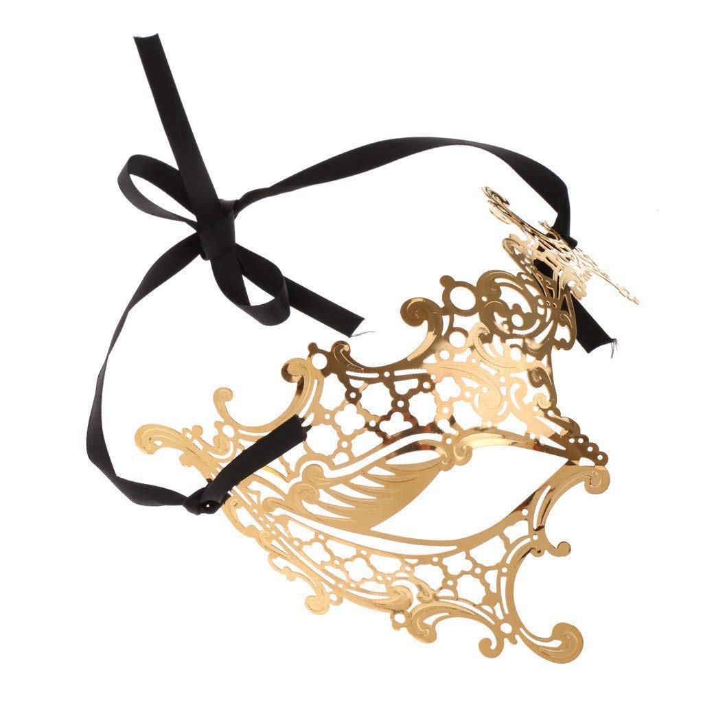 RXBC2011 Mascaras Carnaval Metal Laser-corte de Diamantes de Imitaci/ón Noche Baile Veneciano Carnaval Fiesta M/áscara