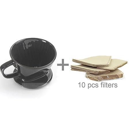 Amazon.com: dowonsol Filtros de cafetera Dripper con 10pcs ...