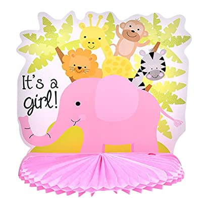 "Pink ""It's a Girl!"" Baby Shower Centerpiece Decoration, 10 in: Toys & Games"