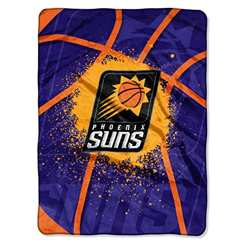 Suns Phoenix Throw - The Northwest Company Officially Licensed NBA Phoenix Suns Shadow Play Plush Raschel Throw Blanket, 60