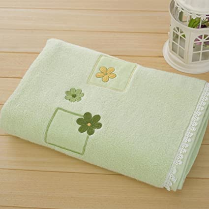 Toallas de baño toallas de algodón Plain flores tipo bebé toalla de baño (piel sin