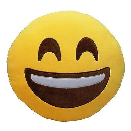 No: 1 Emoji Emoticon sonriente redondas Cojín Cojín relleno plástico de peluche Smile