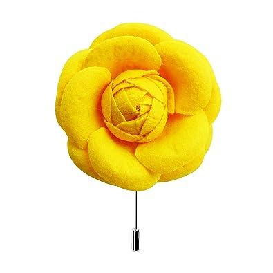 Amazon rarelove yellow big size flower lapel pin wedding prom rarelove yellow big size flower lapel pin wedding prom groom rose boutoniere pins for men mightylinksfo