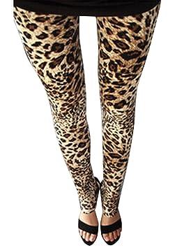 2e4b3a0da5c Guiran Pantalones Mujer Largos Leggings Pantalones Leopardo Leggins Talle  Alto Leggings Casual Leopardo1 Un-Tamaño: Amazon.es: Deportes y aire libre