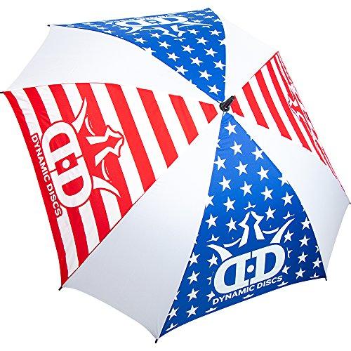 Dynamic Discs Logo Square Disc Golf Umbrella Disc Golf Umbrella - Red/White/Blue