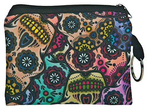 Kukubird Mexican Skull Design stampa Piazza Borsa portafogli