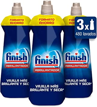 Finish Triplo Abrillantador Lavavajillas - 3 unidades x 800 ml ...