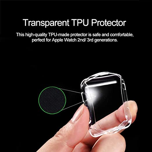 Amazon.com: BATOP Apple Watch Screen Protector || Transparent TPU Protector Screen Protection case Soft Anti-dust Protective Cover for Apple for iwatch ...