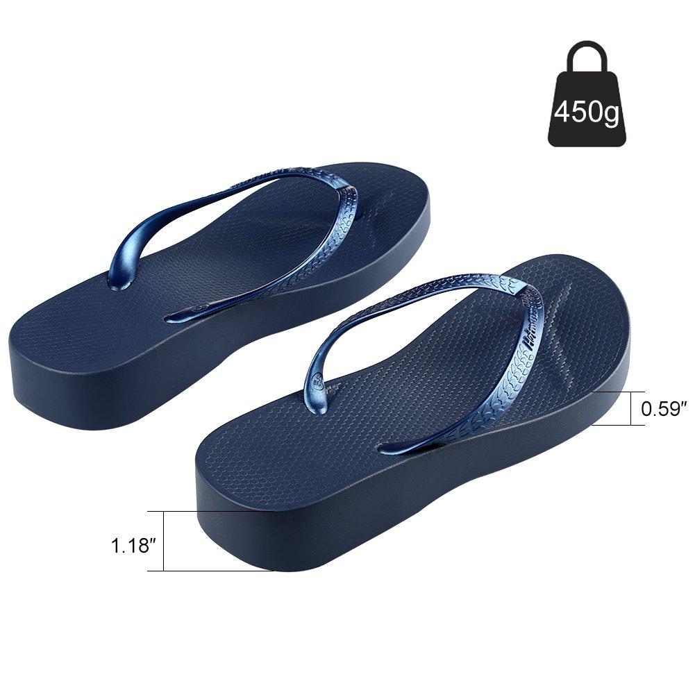 693303190cf4 Hotmarzz Women s Platform Flip Flops Summer Wedge Sandals Beach Slippers  HM0722 larger image