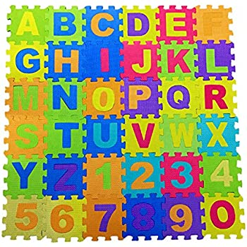 Toys & Hobbies Prosource Kids Foam Puzzle Floor Play Mat With Shapes & Colors Or Numbers & Alph Blocks, Tiles & Mats