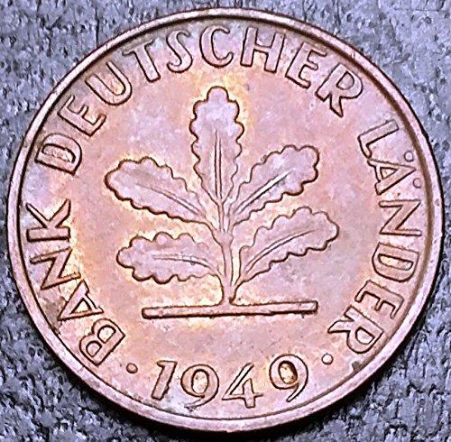 Unbranded 1949G GERMANY FEDERAL REPUBLIC 1 PFENNIG KM# A101 HIGH GRADE
