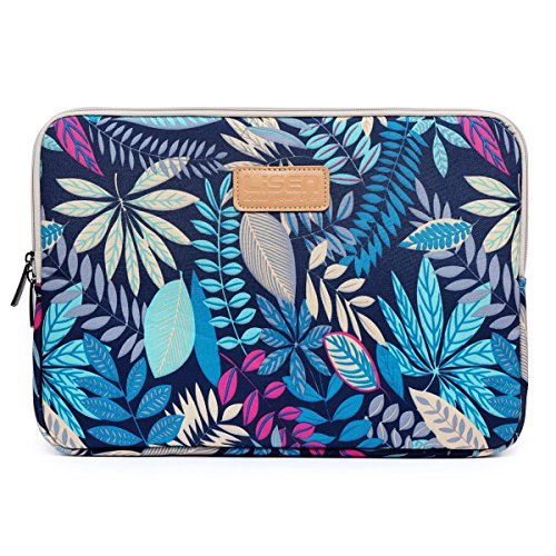 Prime Sale Day Deals Sale Offers 2019-Valentoria 13.3 Inch Laptop Sleeve Case-Colorful Vintage Leaves Ultrabook Sleeve MacBook Bag for Asus/iPad Pro/Lenovo/MacBook Pro/MacBook Air/Surface Pro 4