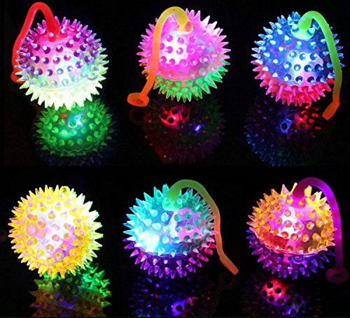 Mini Light Up LED Dual Color Yoyo Spiked Ball (Colors May Vary) Set of 12 for $<!--$13.99-->