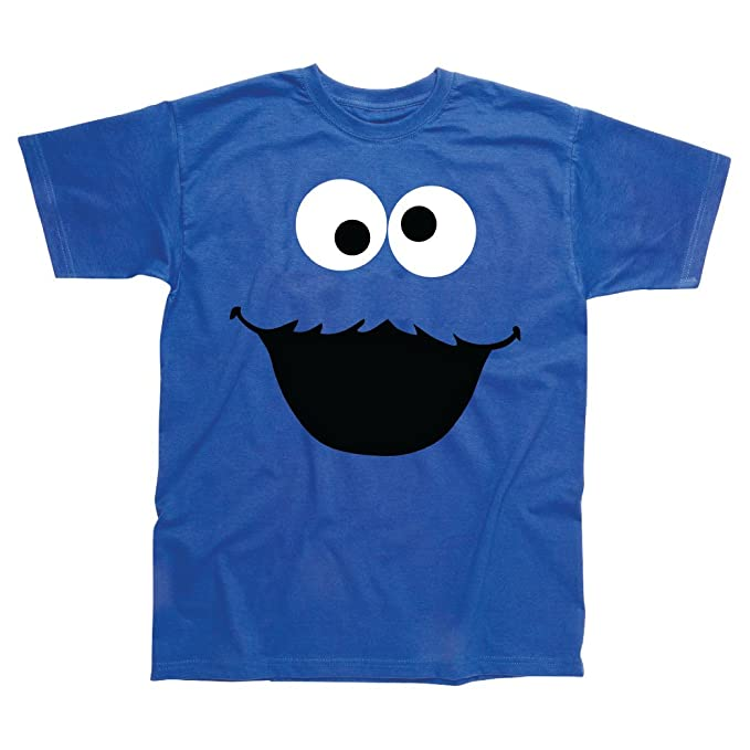 6de30f37d6f Cookie Monster Inspired T-Shirt Blue  Amazon.co.uk  Clothing
