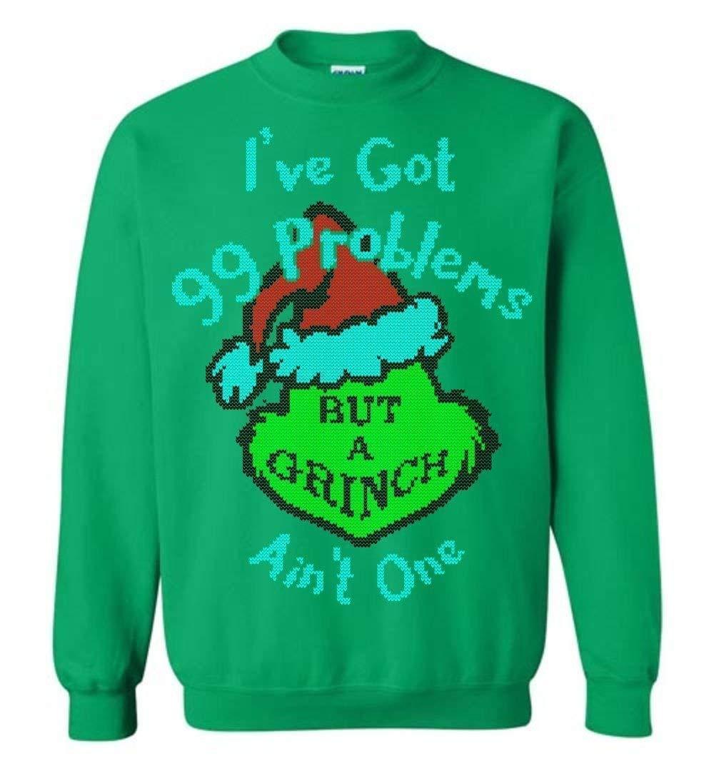 a234e66e Amazon.com: Funny Ugly Christmas Sweater Grinch Stole Christmas 99 Problems  Small - 5XL: Handmade