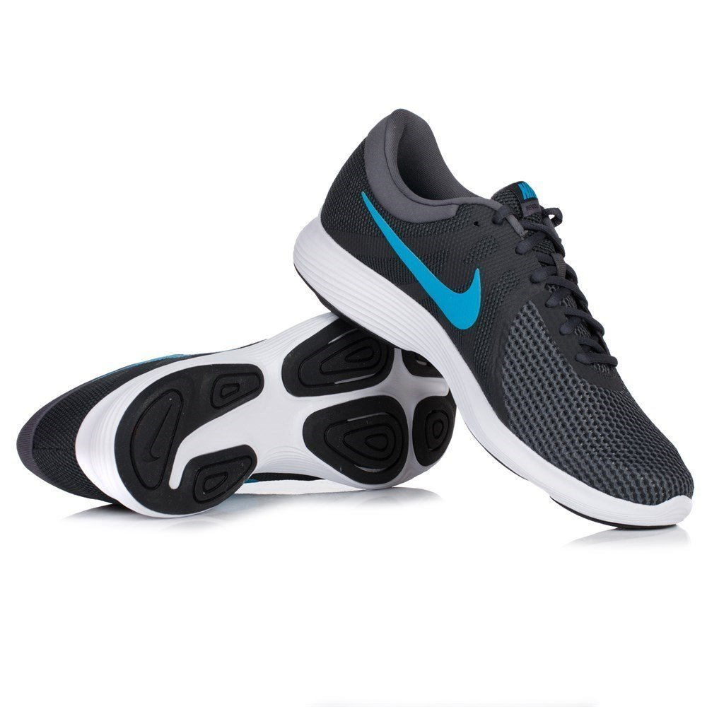 615077038acb Nike Revolution 4 EU - Running Shoe - Anthracite Lt. Blue Fury - Grey