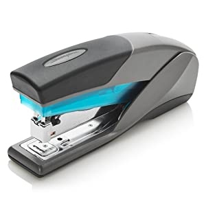 Swingline Stapler, Optima 25, Full Size Desktop Stapler, 25 Sheet Capacity, Reduced Effort, Blue/Gray (66404) - SWI66404