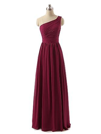 Long Burgundy Formal Dresses