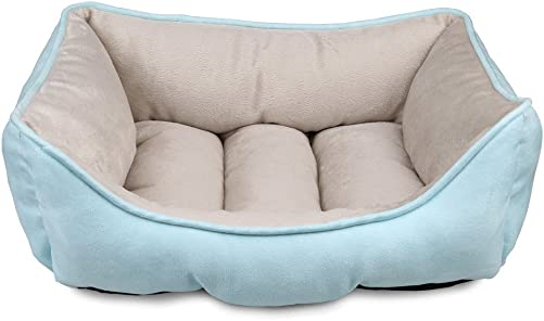 Magic Cindy Pets Beds for Small Medium Dogs and Cats Rectangle Cuddler with Soft Pet Sleeper Cushion Machine Washable